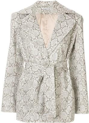 Georgia Alice Snakeskin Print Jacket