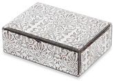 Bed Bath & Beyond Mele & Co. Cadence Mirrored Glass Scroll Pattern Jewelry Box