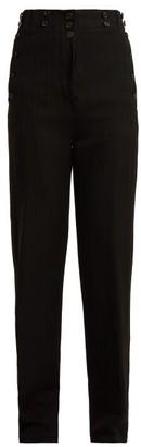 Ann Demeulemeester Oberon Buttoned Wool-blend Trousers - Black