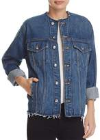 Derek Lam 10 Crosby Reiss Collarless Denim Jacket