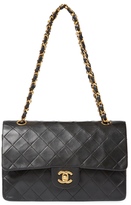 Chanel Vintage Black Quilted Lambskin Classic Flap Medium