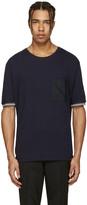 Lanvin Navy Pocket Stripe T-Shirt