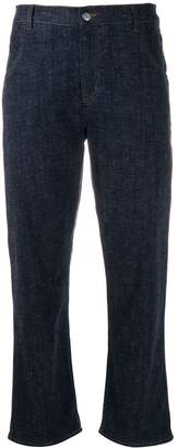 YMC cropped straight-leg jeans