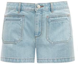 A.P.C. Roma Mid-rise Denim Shorts - Womens - Light Denim