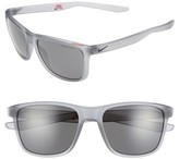 Nike Men's Unrest 57Mm Sunglasses - Matte Wolf Grey/ Deep Pewter
