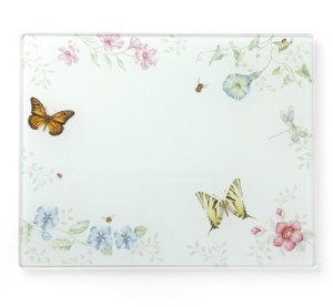 Lenox Butterfly Meadow Kitchen Large Glass Food Board, Created for Macy's