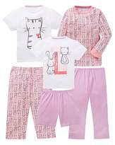 KD Girls Pack of Three Pyjamas