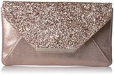 Jessica McClintock Riley Glitter Crystal Flap Clutch