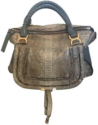 Chloé Marcie Blue Python Handbags