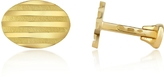 Torrini Stripes - 18K Yellow Gold Oval Cufflinks