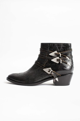 Zadig & Voltaire Pilar Used Strass Ankle Boots