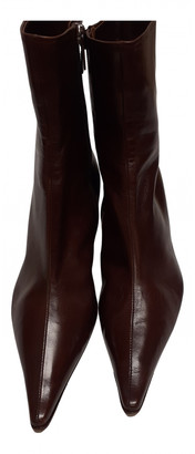 Unützer Brown Leather Ankle boots