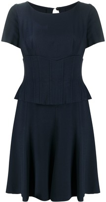 Chanel Pre Owned Corset Waist Dress