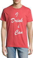 Sol Angeles Drink Up Crewneck T-Shirt, Red