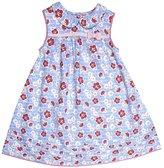 Jo-Jo JoJo Maman Bebe Floral Dress W/ Knickers (Baby)-Blue-12-18 Months