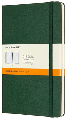 Moleskine Classic Ruled Hardcover Large Notebook - Myrtle Green