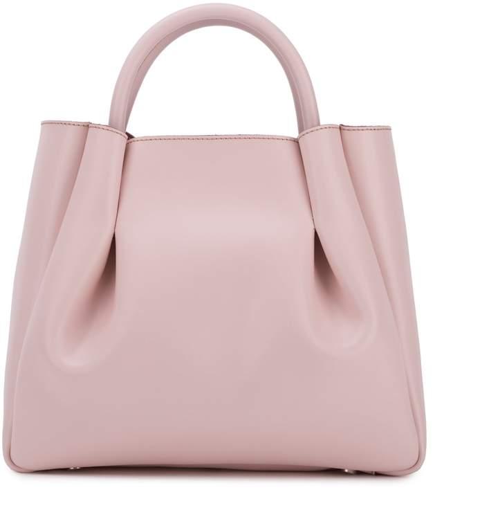 Alexandra de Curtis Midi Ruched Tote Blush Pink