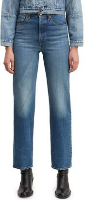 Levi's Premium Ribcage High-Rise Straight Jeans