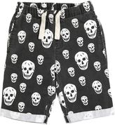 Molo Skulls Printed Cotton Gabardine Shorts