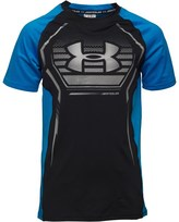 Under Armour Junior HeatGear Armour Up Fitted Short Sleeve Top Royal/Black