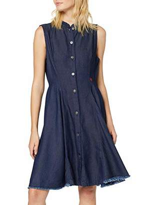 G Star Women's Bristum Slim Flare Fringe Dress