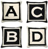 Jonathan Adler - letter pillows by jonathan adler