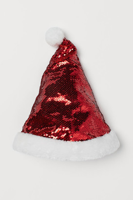 H&M Sequined Santa hat