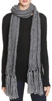 Echo Cable Knit Fringe Scarf - 100% Exclusive