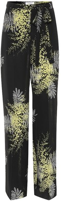 Valentino Printed wide-leg silk pants