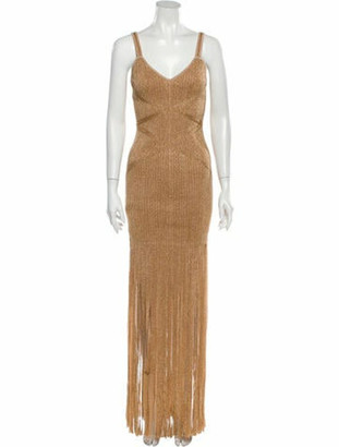 Herve Leger 2020 Knee-Length Dress w/ Tags Gold