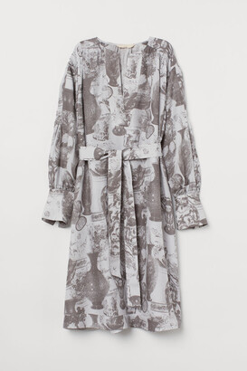 H&M Silk-blend Dress - Blue