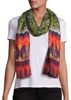 Etro Printed Cashmere & Silk Scarf