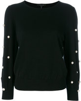 Marc Jacobs faux pearl embellished jumper - women - Cashmere/Wool - S