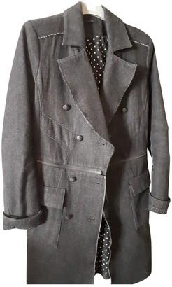 Ikks Anthracite Wool Coat for Women