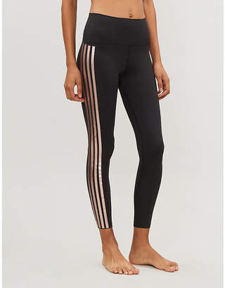 Beach Riot Jade striped high-rise stretch-jersey leggings