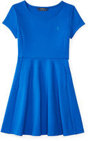 Ralph Lauren Fit-and-Flare Ponte Dress