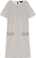Tara Jarmon Striped Cotton Dress with Embellishment