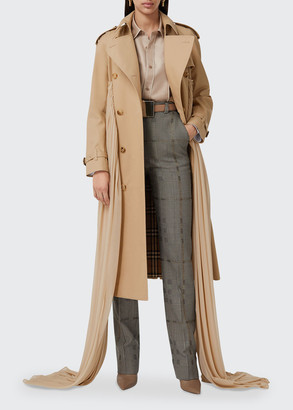 Burberry Double-Breasted Cotton Belted Trench Coat
