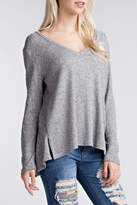Honey Punch Basic Grey Long-Sleeve
