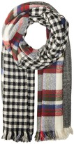 Steve Madden Multi Facet Plaid Blanket Wrap