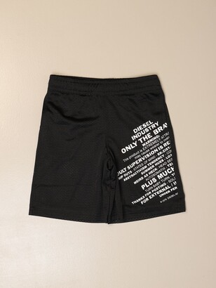 Diesel Shorts In Cotton With Prints