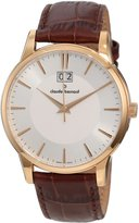 Gents Claude Bernard Men's 63003 37R AIR Classic Rose Gold PVD Dial Leather Date Watch