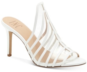 INC International Concepts I.n.c. Women's Lavel Vinyl Mules, Created for Macy's Women's Shoes