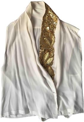 Dries Van Noten Beige Silk Top for Women