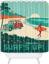 DENY Designs Anderson Design Group Surfs Up Shower Curtain, 69-Inch by 72-Inch