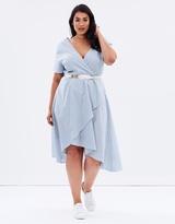 Stripe Dress with Hi-Lo Hem