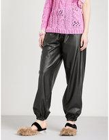 Natasha Zinko Oversized high-rise leather-effect trousers