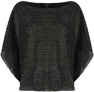 Antonelli Scoop Neck Metallic-Knit Jumper