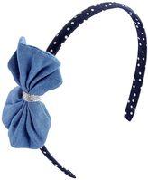Osh Kosh Baby Girl Chambray Bow Headband