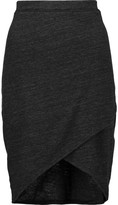 Splendid Wrap-effect stretch-jersey skirt